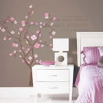 Elegant plum flower Sgamey01063 home sticker